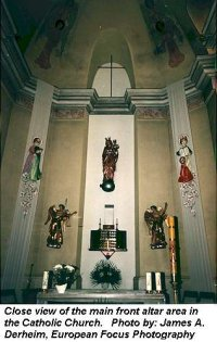 Main altar in Catholic Church in Debica