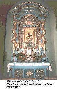 Side altar in the Catholic Church in Pilzno